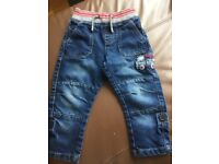 Boys 18-24mth bundle-jumper and 2 pairs of jeans