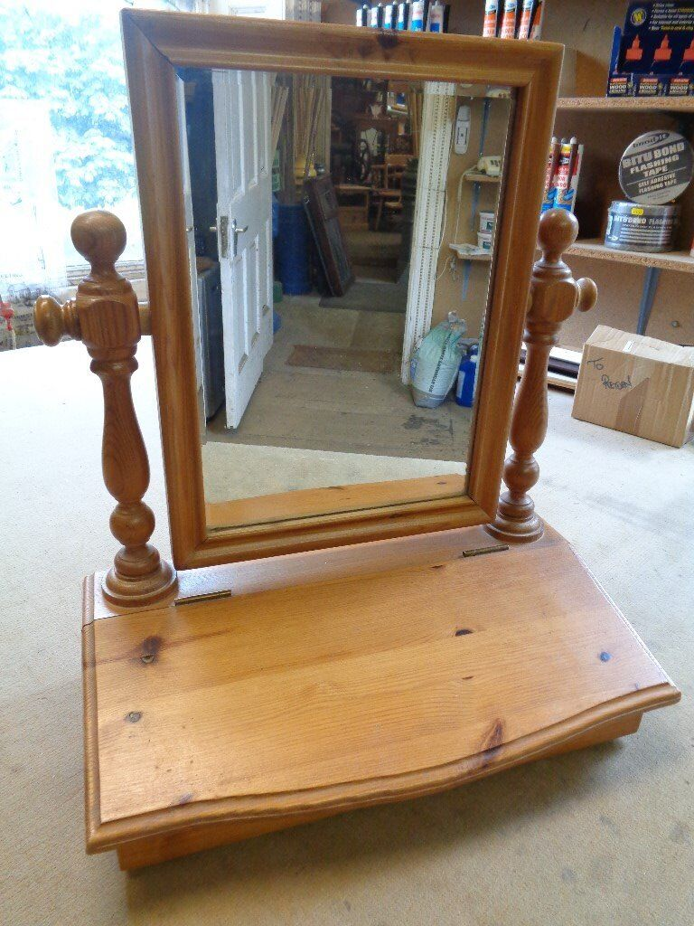 Pine table top mirror with storage compartmentin Hebden Bridge, West YorkshireGumtree - Pine table top mirror with storage compartment. Lovely bit of furniture for the bedroom. A good deal for real pine furniture. NO TIME WASTERS. £35. 07743798833