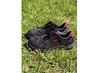 Most comfortable safety shoes boots black red woman man unisex 7uk 40 leather
