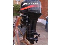 mercury 50hp outboard motor engine for speedboat fishing boat rib inflatable etc. looks mint