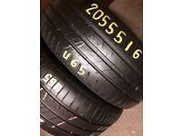 205/55/16 -5mm + part worn tyres london barking / wholesale & retail - 07961201205
