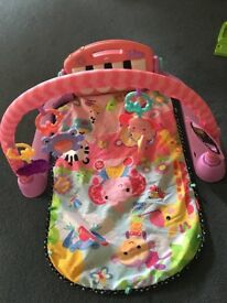 Fisher Price kick and play gym In pink