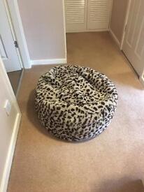 Gorgeous Faux Fur Leopard Print Bean Bag