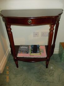 Vintage Mahogany 'Half Moon' Occasional Table (1980s)