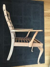 Antique Scottish sprung chair
