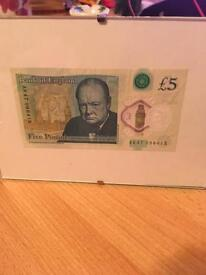 New five pound note AK47