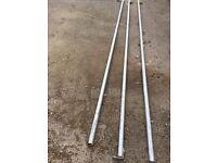 Unistrut 3 Long Lengths, various fixing and feet, Bargin see photos