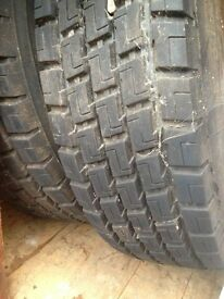 295/80/22.5 Truck tyres 2 x drive axle, as new tread. £250 for both.