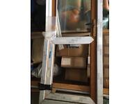 Brand new golden oak rehau upvc door
