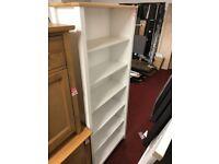 white/oak large bookcase