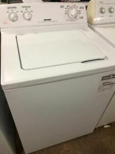 Hotpoint 27 Wide Top Load Washer, Free 30 Day Warranty, Save The Tax Event