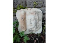 Lovely ceramic Grecian style wall plaque for interior or garden