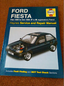 Ford Fiesta 1989 to 1995 Haynes Service and Repair Manual 1595