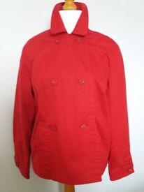 Marks & Spencer Red washable shower jacket. Sz 16/18. Good quality. Worn twice.