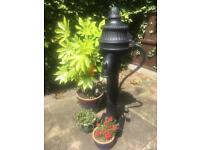 Garden ornament - cast iron water pump