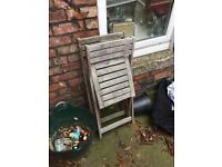 Gone pending collection - Five free folding timber chairs