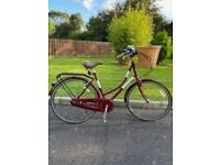 Classic 'Real' ladies bicycle with wicker basket in amazing condition