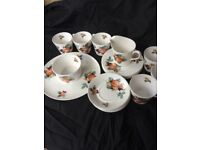 Colclough China Tea Set Unusual Pattern
