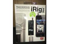 iRig Pre Universal iPhone iPad microphone (New)