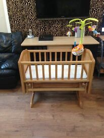 Mothercare crib in excellent condition with extras