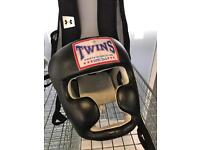 Twins Special Leather Head Guard