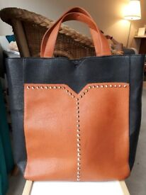 Large shopper bag handbag handle bag like leather