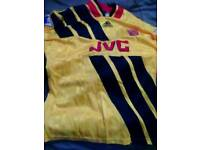 Arsenal Adidas 1993/94 away shirt with premier league badges.