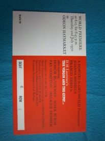 1970 The Virgin & The Gypsy Premiere Ticket Odeon Haymarket IP1