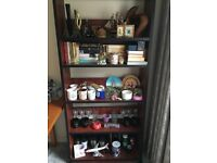 Free standing wooden 5 Tiers Bookcase Shelf Storage Display Unit for sale