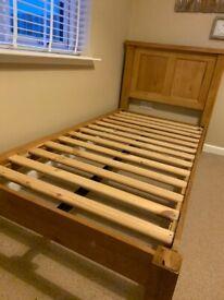 Oak Single Bed & Mattress