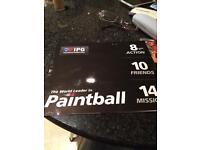 10 IPG paintball tickets +1000 paintballs