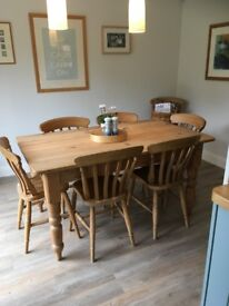 Reclaimed Pine Kitchen Table