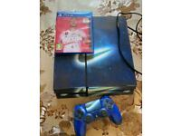 PS4 console with controller and FIFA 20