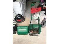 """Qualcast 12"""" self propelled electric 30s cylinder lawn mower"""
