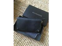 NEW All Saints Black Leather Purse/ Wallet