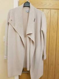 Women's Jigsaw Cream Long Cardigan size small