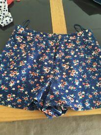 Topshop shorts size 6 worn twice