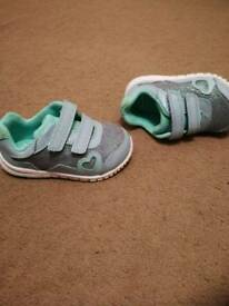 Size 4.5 Clarks baby girl shoes