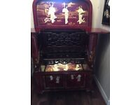 Chinese mother of pearl cabinet