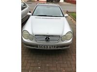 Spare and repair Mercedes c 200k silver 130000