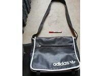 Adidas mens satchel / bag black leather.