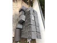 500 Redland Concrete Plain Tile Slate Grey Colour 30