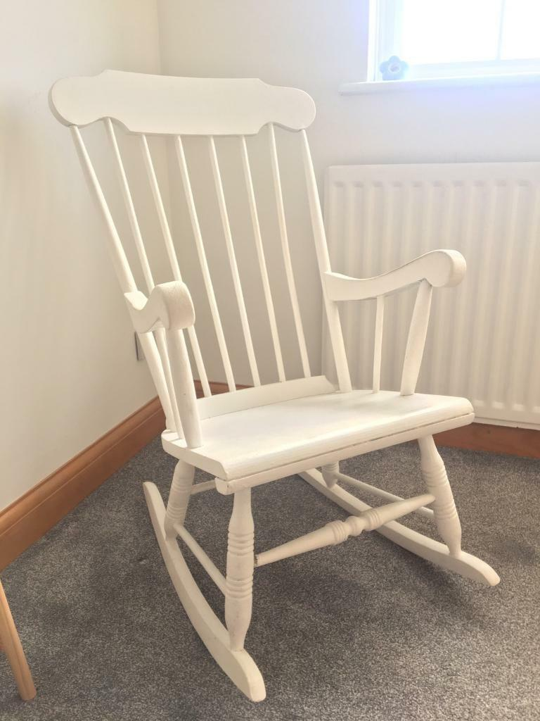 Prime Wooden Rocking Chair In Hedge End Hampshire Gumtree Short Links Chair Design For Home Short Linksinfo