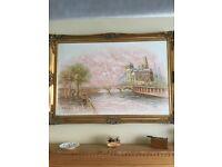 Oil Painting Parisian Scene