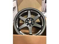 """Ford Fiesta Ka Escort Sierra x4 17"""" Stuttgart St16-N Alloy Wheels Matt GM 4x108"""