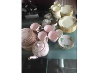 Assorted vintage tea sets