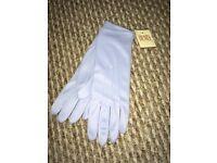 Dents Ladies Pale Blue Vintage Style Gloves