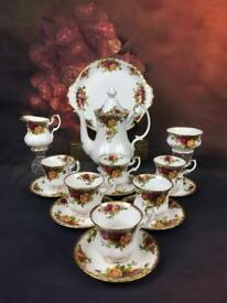 1962's Royal Albert Old Country Rose Coffee Set