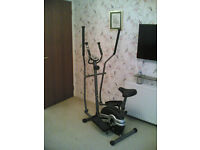 exercise machine crosstrainer with monitor adjustable seat height £35 delivered free see ad