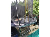 8ft trampoline with new